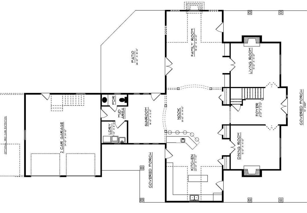 Floor Plan First Story for country house plans # CR-534-A