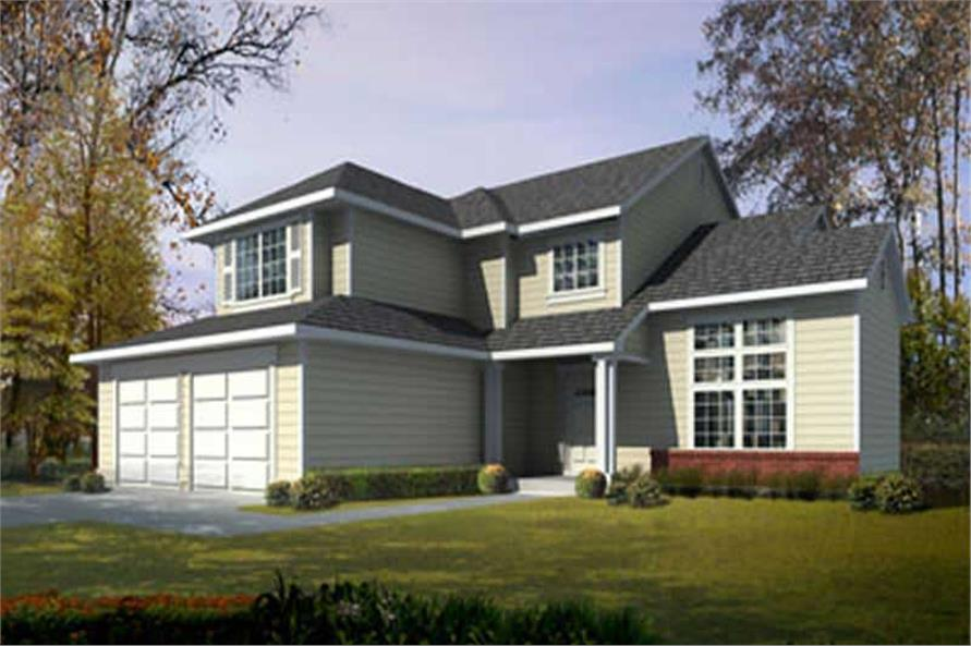 3-Bedroom, 1880 Sq Ft Traditional House Plan - 119-1003 - Front Exterior