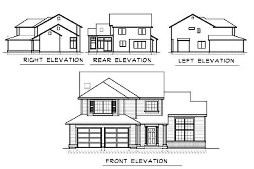 Home Plan Rear Elevation of this 3-Bedroom,1880 Sq Ft Plan -119-1003