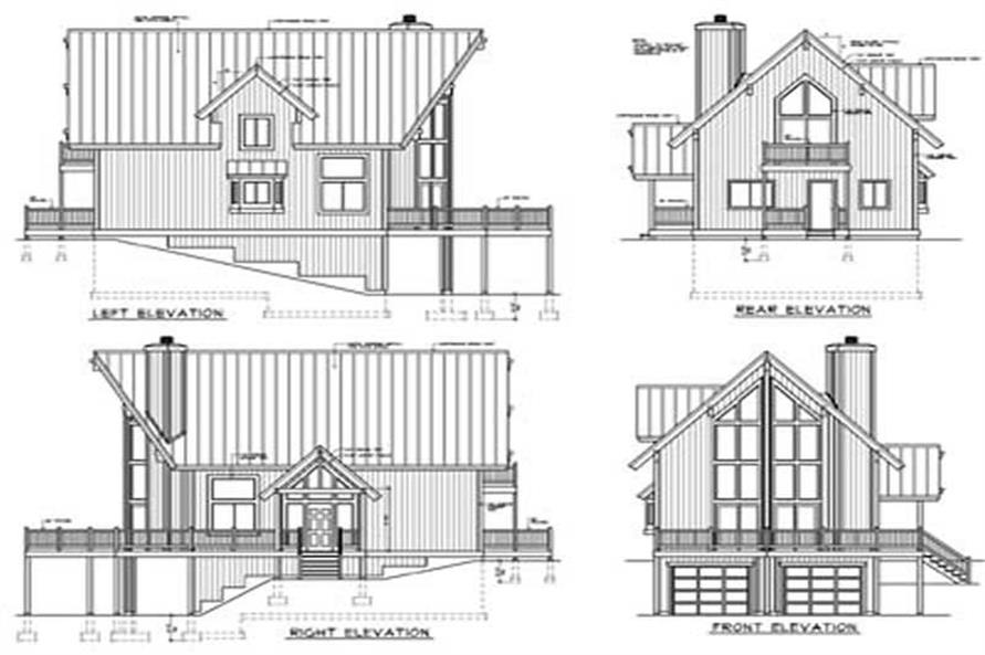 Home Plan Rear Elevation of this 2-Bedroom,1472 Sq Ft Plan -119-1004