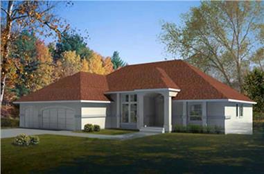 3-Bedroom, 2527 Sq Ft Mediterranean House Plan - 119-1005 - Front Exterior