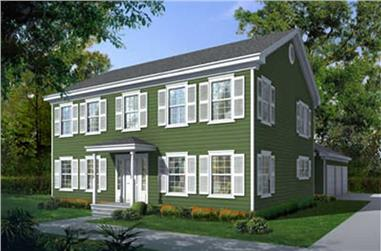 4-Bedroom, 2570 Sq Ft Colonial Home Plan - 119-1006 - Main Exterior