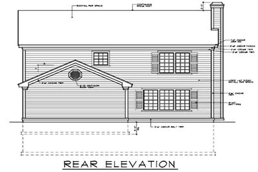 Home Plan Rear Elevation of this 4-Bedroom,2570 Sq Ft Plan -119-1006