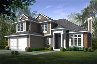 4-Bedroom, 2426 Sq Ft Traditional House Plan - 119-1008 - Front Exterior