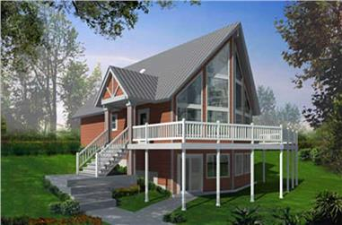 3-Bedroom, 1557 Sq Ft Contemporary House Plan - 119-1009 - Front Exterior
