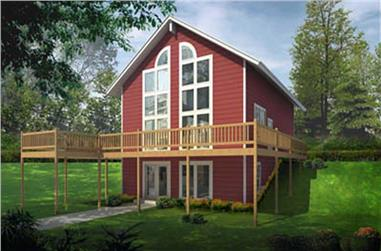 2-Bedroom, 1768 Sq Ft Contemporary Home Plan - 119-1014 - Main Exterior