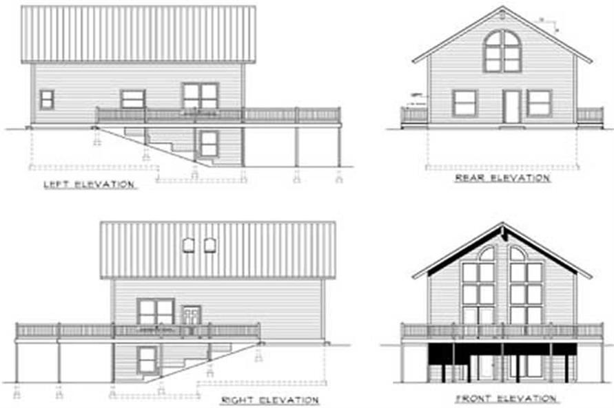 Home Plan Rear Elevation of this 2-Bedroom,1768 Sq Ft Plan -119-1014