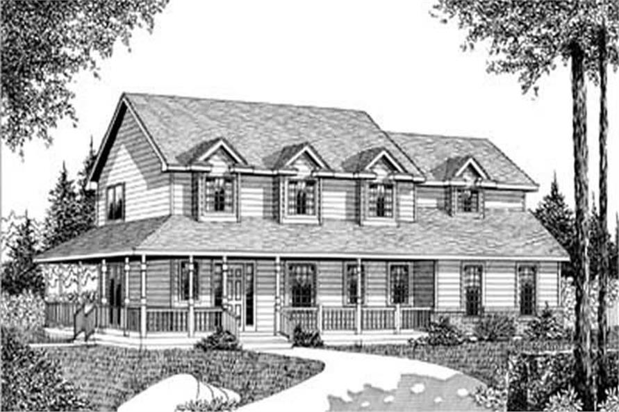 Front Elevation of this 3-Bedroom,2184 Sq Ft Plan -2184