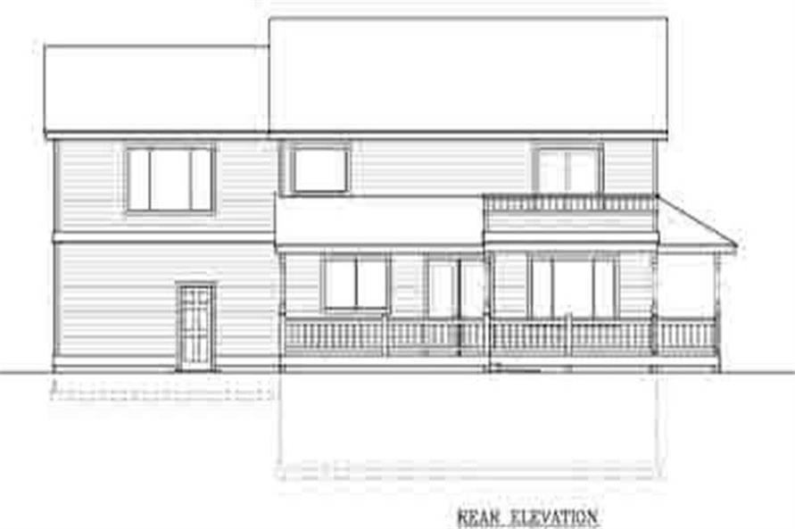 Home Plan Rear Elevation of this 3-Bedroom,2184 Sq Ft Plan -119-1019