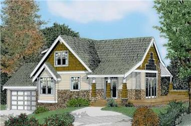 4-Bedroom, 2131 Sq Ft French House Plan - 119-1020 - Front Exterior
