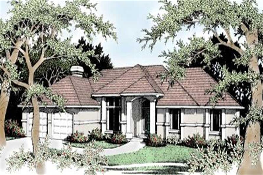 3-Bedroom, 1941 Sq Ft Contemporary House Plan - 119-1022 - Front Exterior