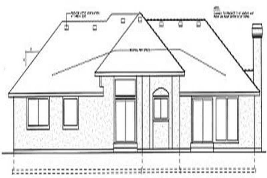 Home Plan Rear Elevation of this 3-Bedroom,1941 Sq Ft Plan -119-1022