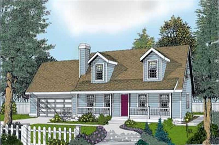 3-Bedroom, 1757 Sq Ft Country House Plan - 119-1023 - Front Exterior