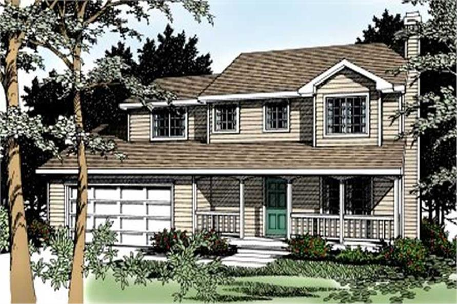 4-Bedroom, 1632 Sq Ft Country House Plan - 119-1024 - Front Exterior