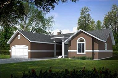 3-Bedroom, 1601 Sq Ft House Plan - 119-1026 - Front Exterior