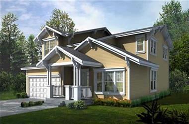 4-Bedroom, 2202 Sq Ft Contemporary House Plan - 119-1028 - Front Exterior