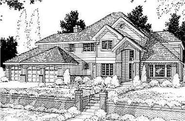 4-Bedroom, 3346 Sq Ft Contemporary House Plan - 119-1029 - Front Exterior