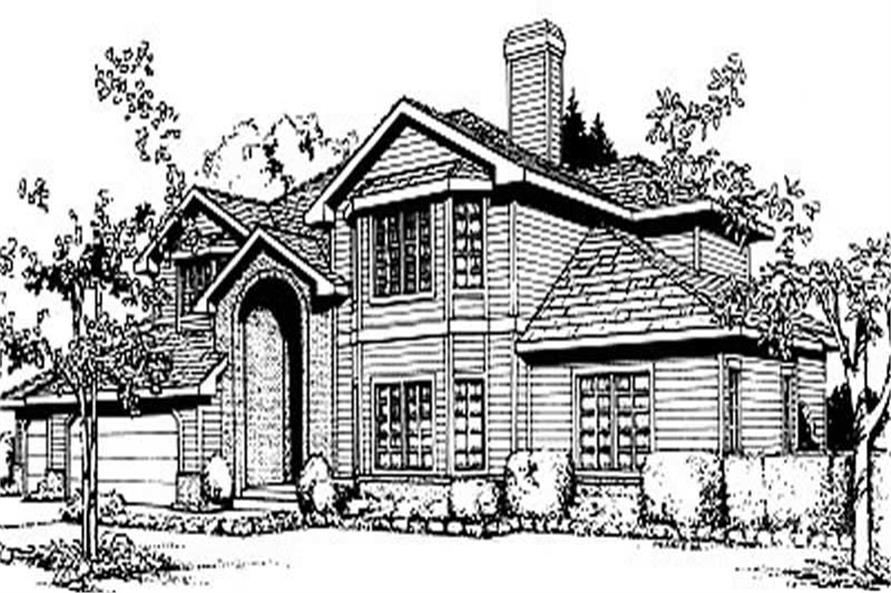 5-Bedroom, 3294 Sq Ft European House Plan - 119-1030 - Front Exterior