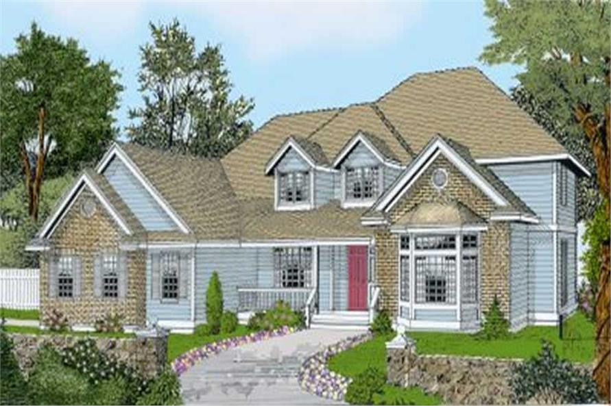 4-Bedroom, 2995 Sq Ft Contemporary House Plan - 119-1031 - Front Exterior