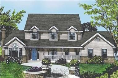4-Bedroom, 2909 Sq Ft Country House Plan - 119-1033 - Front Exterior