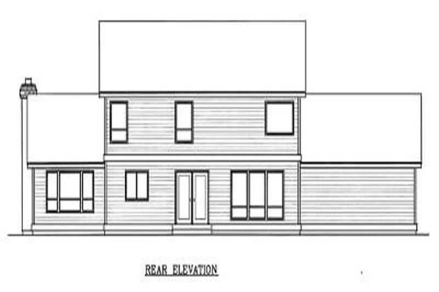 Home Plan Rear Elevation of this 4-Bedroom,2909 Sq Ft Plan -119-1033