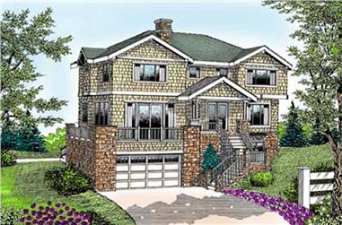 4-Bedroom, 2781 Sq Ft Coastal House Plan - 119-1035 - Front Exterior