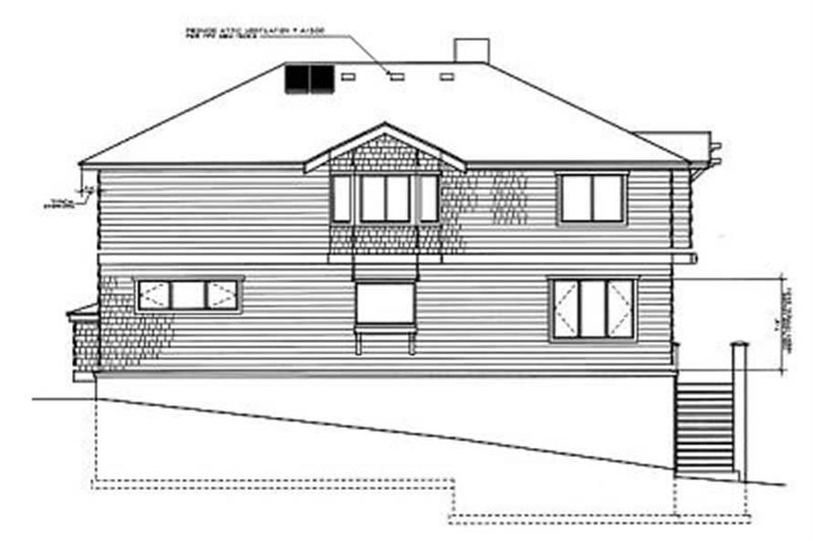 Home Plan Rear Elevation of this 4-Bedroom,2781 Sq Ft Plan -119-1035