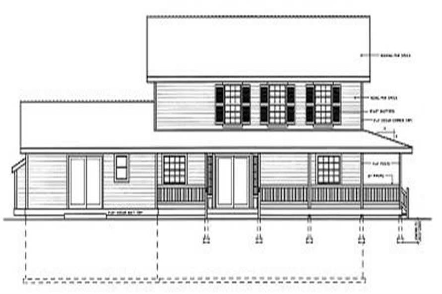 Home Plan Rear Elevation of this 5-Bedroom,2561 Sq Ft Plan -119-1037
