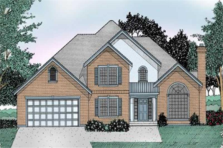 Front Elevation of this 4-Bedroom,2459 Sq Ft Plan -2459