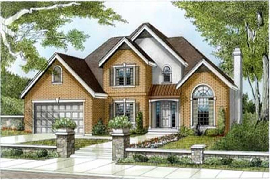 4-Bedroom, 2459 Sq Ft Contemporary House Plan - 119-1039 - Front Exterior