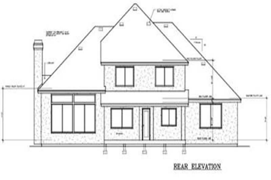 Home Plan Rear Elevation of this 4-Bedroom,2459 Sq Ft Plan -119-1039