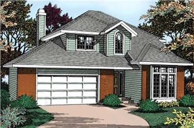 5-Bedroom, 2430 Sq Ft Contemporary House Plan - 119-1040 - Front Exterior