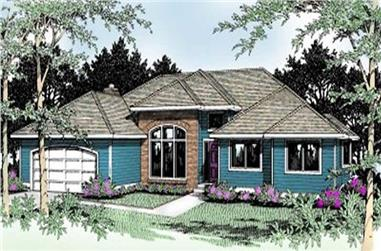 3-Bedroom, 2255 Sq Ft Ranch House Plan - 119-1041 - Front Exterior