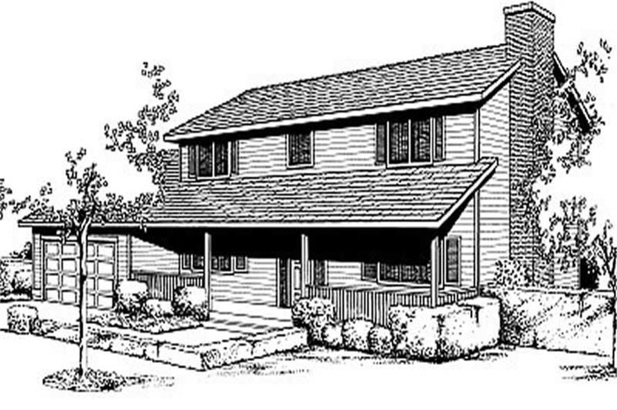 3-Bedroom, 2200 Sq Ft Country House Plan - 119-1043 - Front Exterior