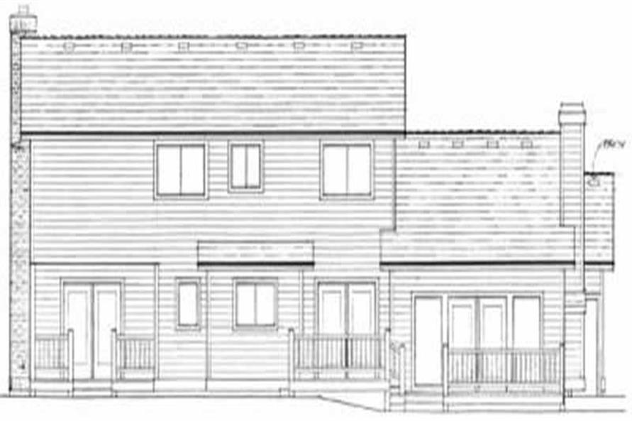 Home Plan Rear Elevation of this 3-Bedroom,2200 Sq Ft Plan -119-1043