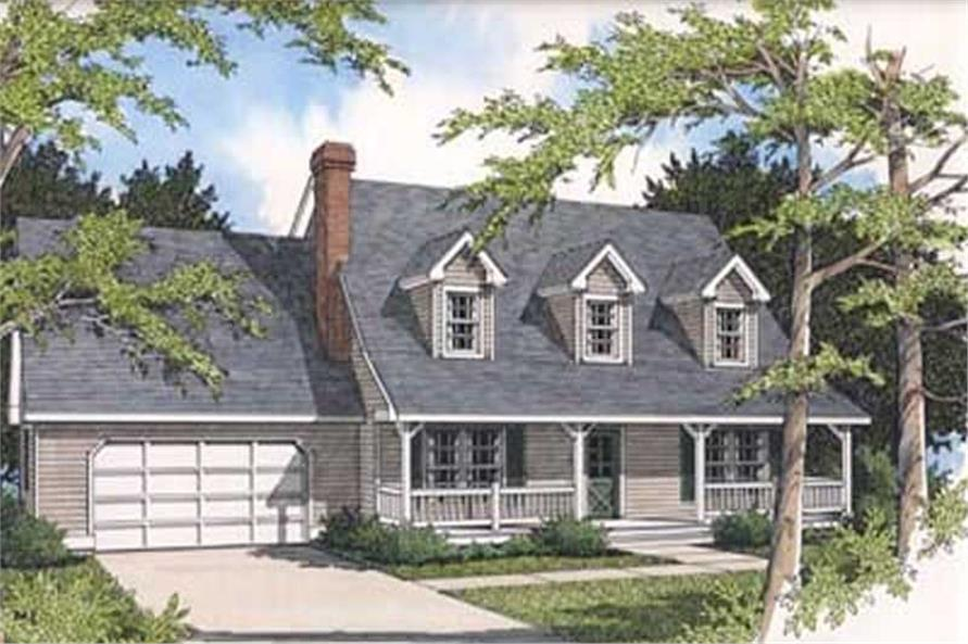 3-Bedroom, 2195 Sq Ft Country House Plan - 119-1044 - Front Exterior