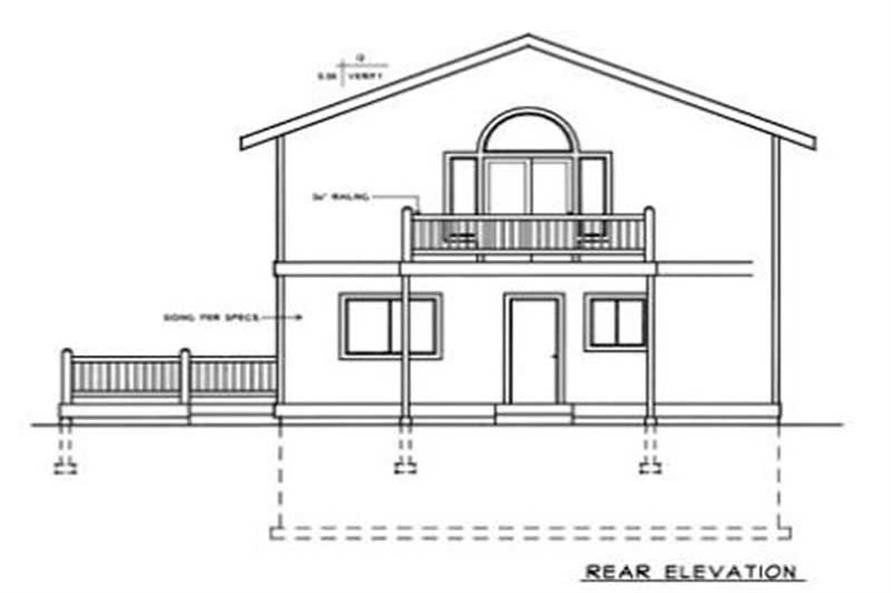 Home Plan Rear Elevation of this 2-Bedroom,1770 Sq Ft Plan -119-1046
