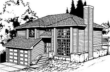 4-Bedroom, 1143 Sq Ft Contemporary House Plan - 119-1049 - Front Exterior