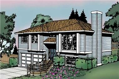 3-Bedroom, 1143 Sq Ft Multi-Level House - Plan #119-1050 - Front Exterior