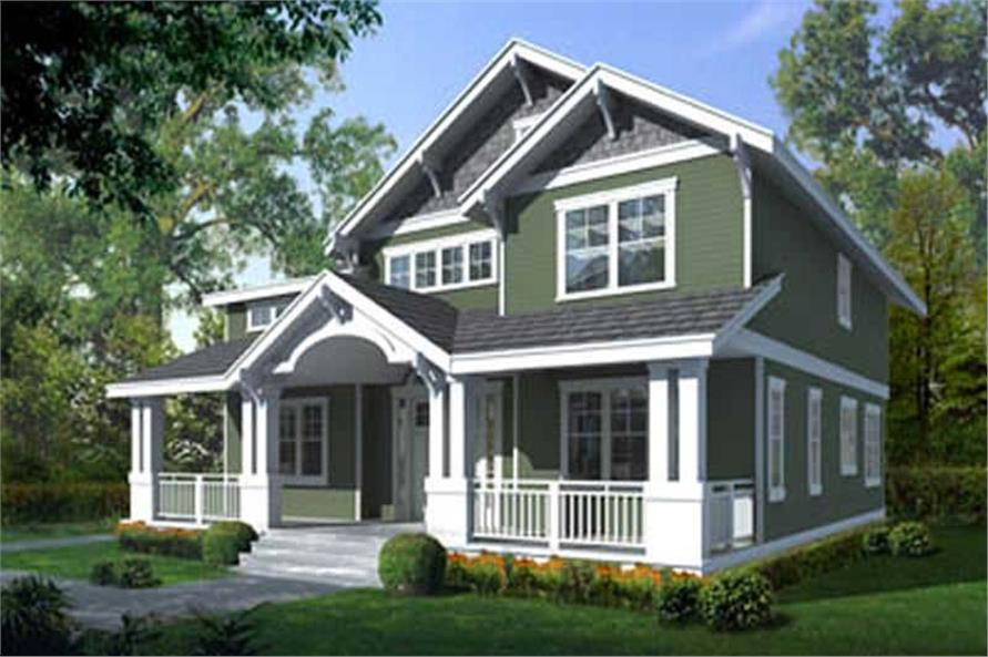 4-Bedroom, 2615 Sq Ft Country House Plan - 119-1051 - Front Exterior