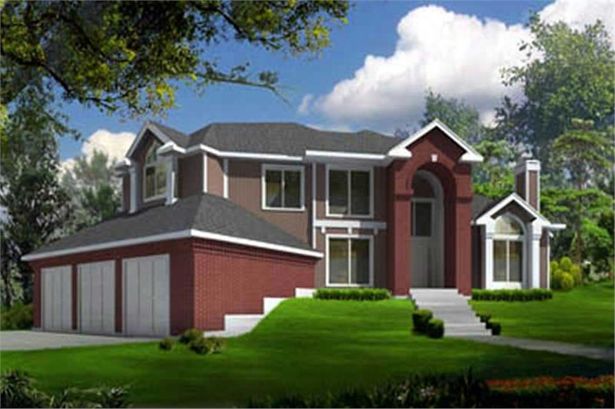 4-Bedroom, 2696 Sq Ft Home Plan - 119-1053 - Main Exterior