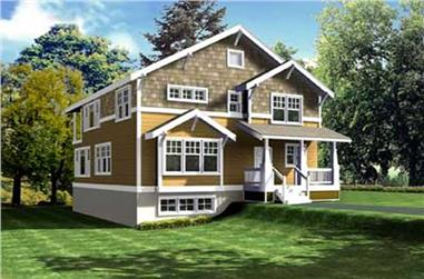 2-Bedroom, 2756 Sq Ft Ranch House Plan - 119-1054 - Front Exterior