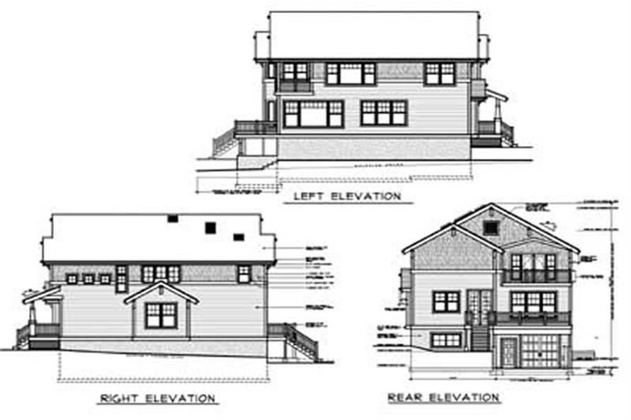 Home Plan Rear Elevation of this 2-Bedroom,2756 Sq Ft Plan -119-1054