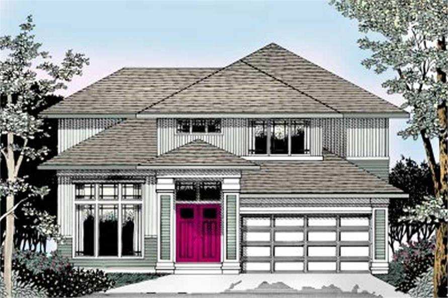Home Plan Rendering of this 3-Bedroom,2503 Sq Ft Plan -119-1056