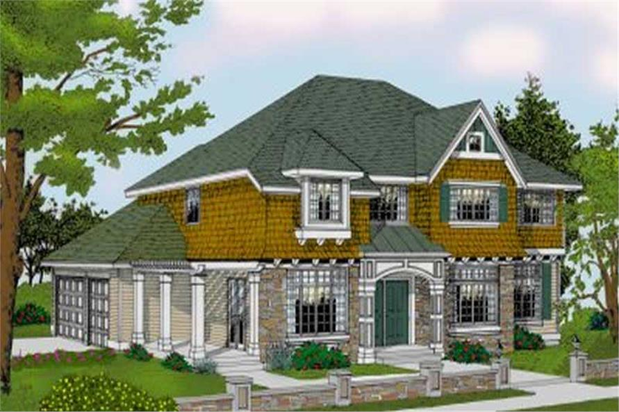 4-Bedroom, 3433 Sq Ft Country House Plan - 119-1057 - Front Exterior