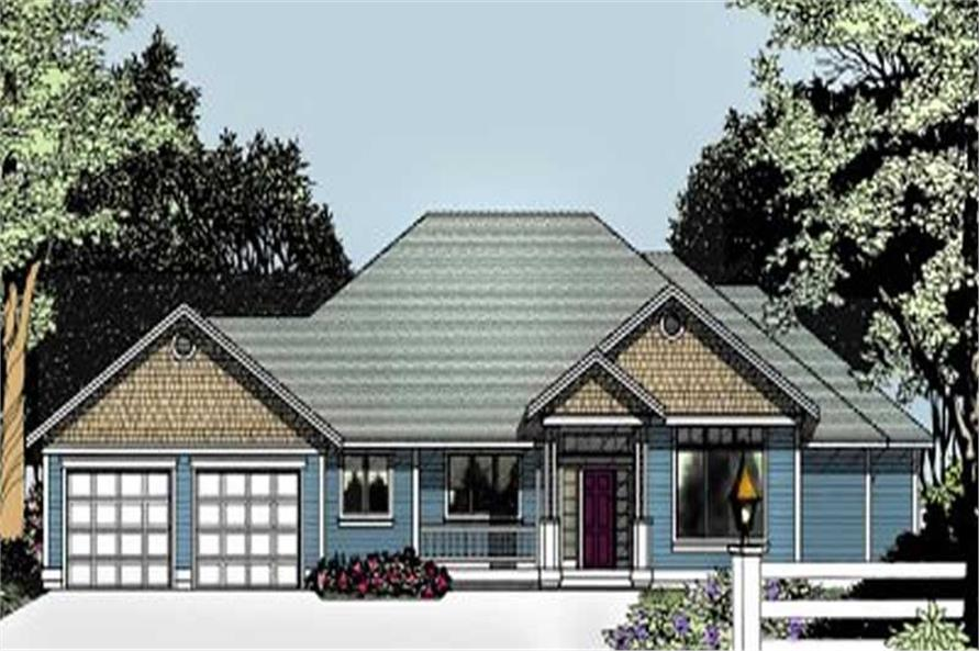Home Plan Rendering of this 3-Bedroom,2221 Sq Ft Plan -119-1058