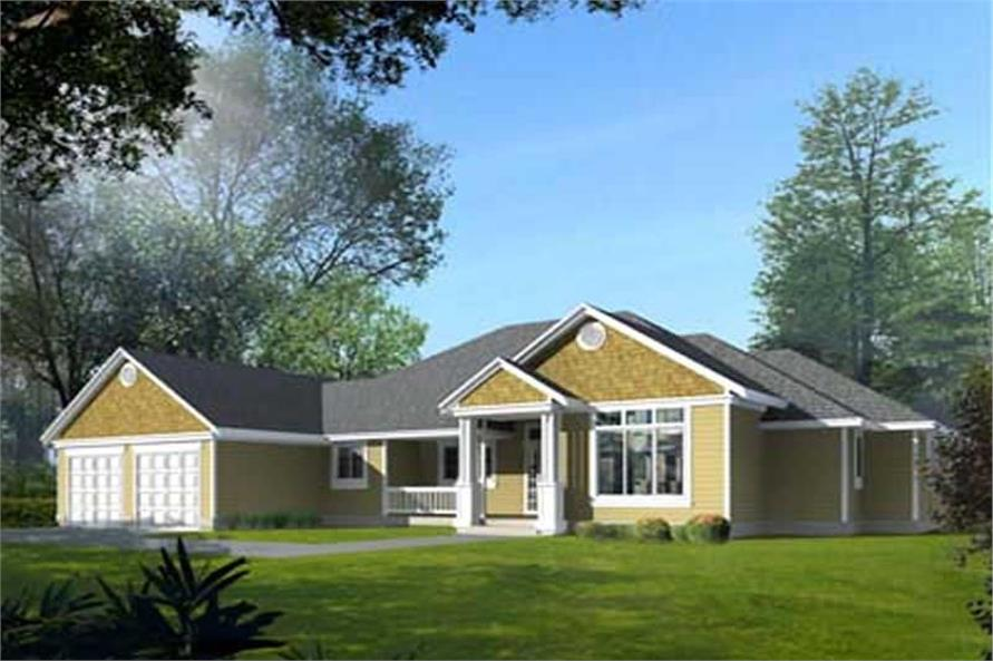 3-Bedroom, 2221 Sq Ft French House Plan - 119-1058 - Front Exterior