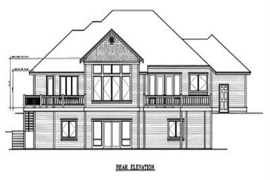 Home Plan Rear Elevation of this 3-Bedroom,2221 Sq Ft Plan -119-1058