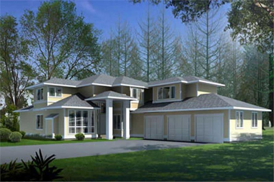Front Elevation of this 4-Bedroom,2937 Sq Ft Plan -2937