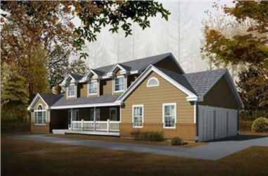 4-Bedroom, 2625 Sq Ft Country House Plan - 119-1061 - Front Exterior